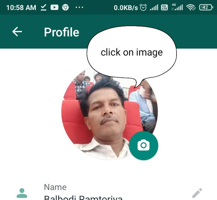 How to add whatsapp profile picture